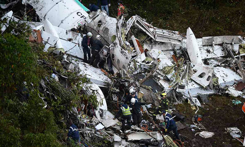 Colombia khẳng định máy bay chở 77 người rơi do cạn nhiên liệu