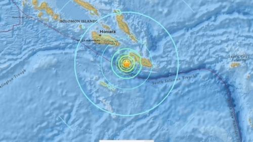 Vị trí tâm chấn động đất hôm 10/12. Đồ hoạ: USGS