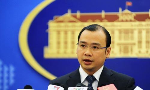 Người phát ngôn Bộ ngoại giao Lê Hải Bình. Ảnh: QĐ.