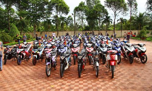 Thú vị hơn 200 xe Exciter hội tụ ở Tiền Giang