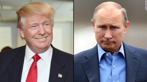 Tổng thống Mỹ đắc cử Donald Trump và Tổng thống Nga Vladimir Putin. Ảnh: CNN