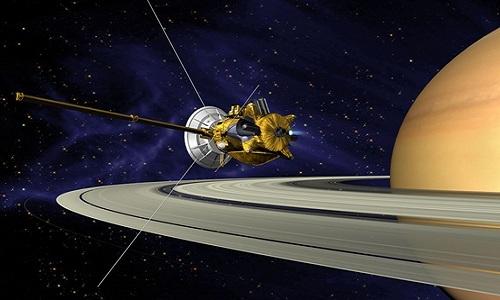 Tàu vũ trụ Cassini nghiên cứu sao Thổ. Ảnh: NASA.
