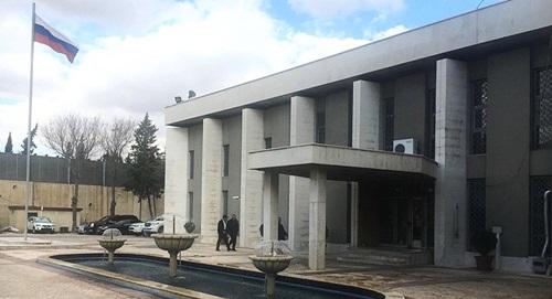 Đại sứ quán Nga tại Damascus, Syria. Ảnh: Sputnik