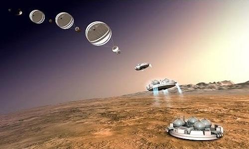 """Gương """"tự sướng"""" giúp máy ảnh chụp lại hình ảnh của tàu thăm dò trên sao Hỏa. Ảnh: AB Video Studio."""