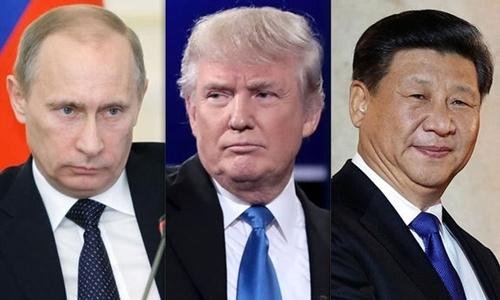 Tam giác quyền lực Mỹ - Trung - Nga trong năm 2017