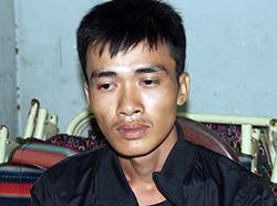 Dương Văn Kiện tại cơ quan điều tra. Ảnh: Hồng Tuyết