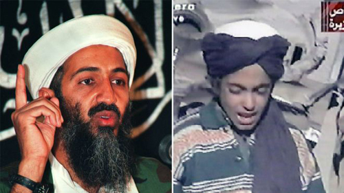 Hamza được xem là người kế vị tiềm năng của cha y Osama bin Laden. Ảnh: AFP