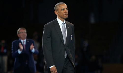 Tổng thống Obama sẽ chính thức rời Nhà Trắng hôm 20/1. Ảnh Reuters