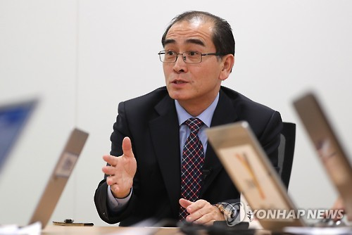 Thae Yong-ho, nhà ngoại giao cấp cao của Triều Tiên từng làm việc 10 năm ở Anh trước khi đào tẩu sang Hàn Quốc cùng gia đình. Ảnh: Yonhap