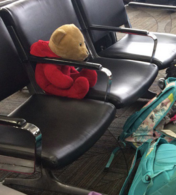 Bé gái đoàn tụ với gấu bông sau vụ xả súng ở sân bay Mỹ - ảnh 1