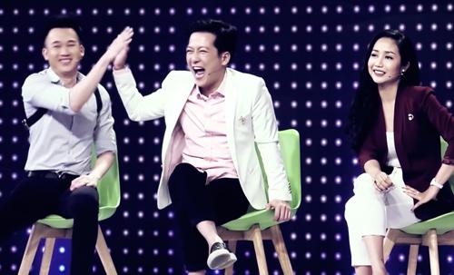 Trường Giang và Dương Triệu Vũ tỏ ra rất tự tin khi tuyên bố chàng trai đang đứng trước mặt mình hát không hay.