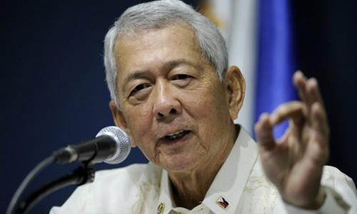 Ngoại trưởng Philippines Perfecto Yasay. Ảnh: Rappler