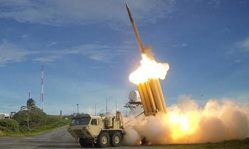Hệ thống THAAD bắn tên lửa đánh chặn. Ảnh: Bộ Quốc phòng Mỹ