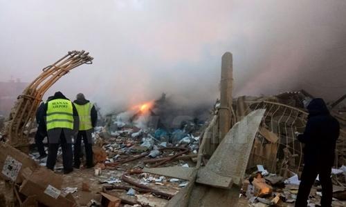 Máy bay Thổ Nhĩ Kỳ lao xuống nhà dân ở Kyrgyzstan, 20 người chết