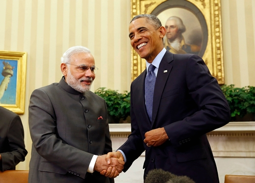 Thủ tướng Ấn Độ và Tổng thống Mỹ trong cuộc gặp tại Nhà Trắng. Ảnh: