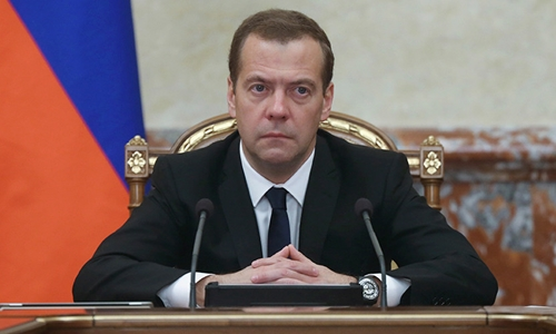 Thủ tướng Nga Dmitry Medvedev. Ảnh: Reuters.