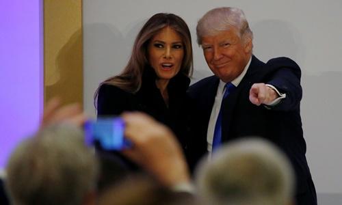 Donald Trump đến Washington dự lễ nhậm chức. Ảnh: Reuters
