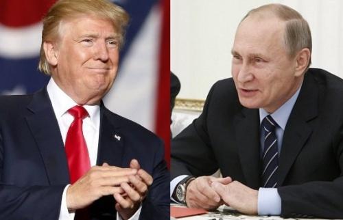 Tổng thống Mỹ Donald Trump và Tổng thống Nga Vladimir Putin. Ảnh: Inquirer