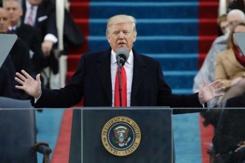 Tổng thống Mỹ Donald Trump trong lễ nhậm chức hôm 20/1. Ảnh: Reuters