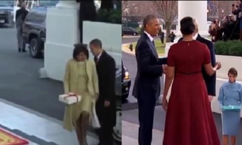 video-doi-lap-cach-trump-va-obama-buoc-xuong-xe-cung-vo