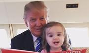 Những khoảnh khắc tinh nghịch của 'người ủng hộ Trump dễ thương nhất'
