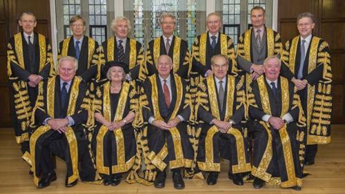 Các thẩm phán trong Tòa án Tối cao Anh. Ảnh: SUPREME COURT