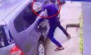 Trộm dùng bugi xe máy đập kính ôtô vỡ vụn trong 3 giây