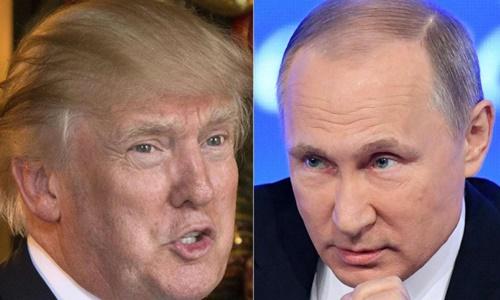 Tổng thống Trump và Tổng thống Putin. Ảnh: SCMP