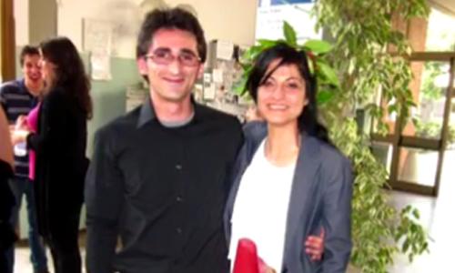 Hamaseh Tayari và bạn trai. Ảnh: BBC