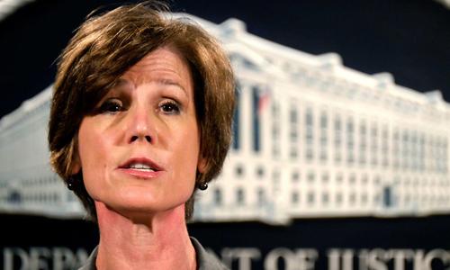 Quyền Bộ trưởng Tư pháp Mỹ Sally Yates vừa bị sa thải. Ảnh: AP