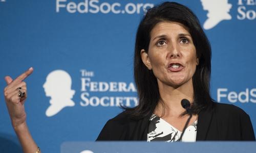 Đại sứ Mỹ tại Liên Hợp Quốc Nikki Haley. Ảnh: Politico