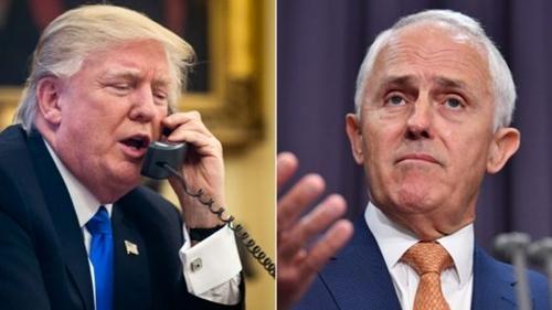 Tổng thống Mỹ Donald Trump (trái) và Thủ tướng Australia Malcolm Turnbull. Ảnh: BBC