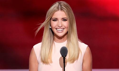 Ivanka Trump, con gái tổng thống Mỹ. Ảnh: AP