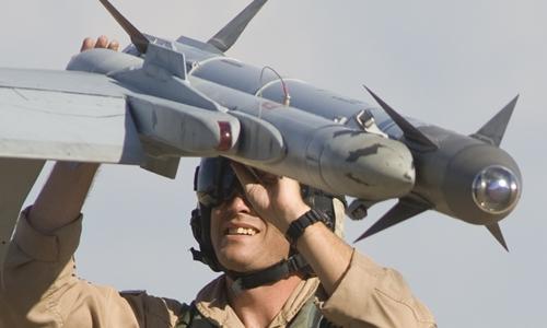 Tên lửa AIM-9X-2 Sidewinder. Ảnh: Raytheon.