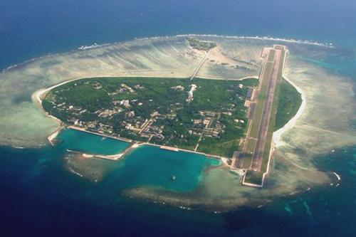 Đảo Phú Lâm thuộc quần đảo Hoàng Sa của Việt Nam đang bị Trung Quốc chiếm đóng, đặt trụ sở của cái gọi là thành phố Tam Sa. Ảnh: Sansha.hinews