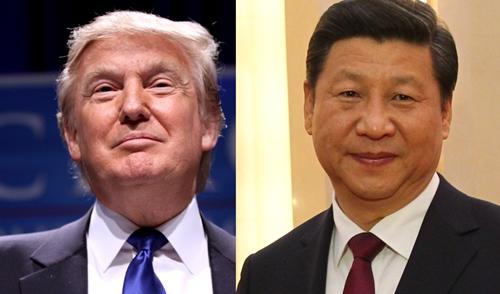 Tổng thống Mỹ Donald Trump và Chủ tịch Trung Quốc Tập Cận Bình. Ảnh: HK
