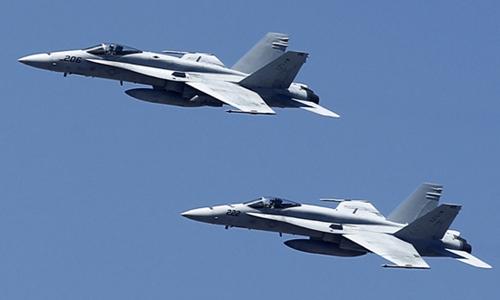Chiến đấu cơ F-18 của Mỹ. Ảnh: Reuters.