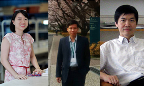 Ba nhà khoa học từ trái sang: Lê Thị Quỳnh Hương