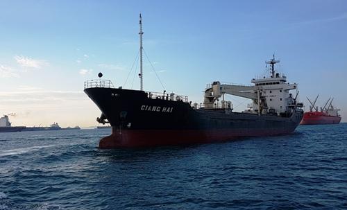 Tàu Giang Hải trên biển. Ảnh: Doanh nghiệp cung cấp