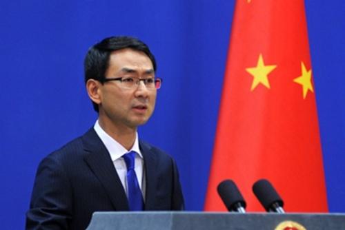 Cảnh Sảng, người phát ngôn Bộ Ngoại giao Trung Quốc. Ảnh: Reuters.