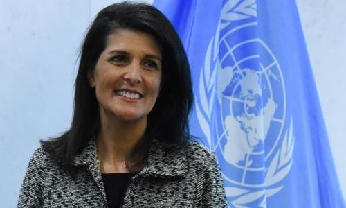 Đại sứ Mỹ tại Liên Hợp Quốc Nikki Haley. Ảnh: Reuters.