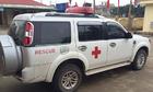Xe cứu thương được tháo cáng để chở lãnh đạo đi họp