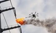 UAV đốt rác trên dây điện của Trung Quốc