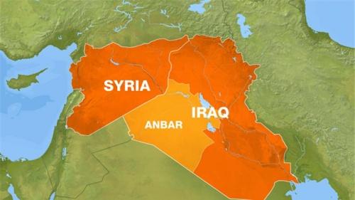 Bản đồ Syria và Iraq. Đồ hoạ: Aljazeera