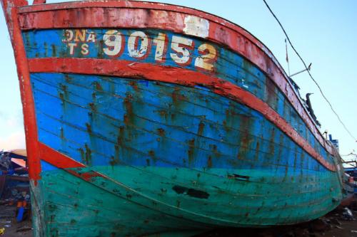 Đà Nẵng trưng bày tàu bị đâm chìm ở Hoàng Sa