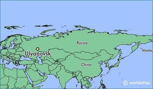 Khu vực tỉnh Ulyanovsk, nơi đặc nhiệm Nga tiến hành diễn tập. Đồ họa: World Atlas