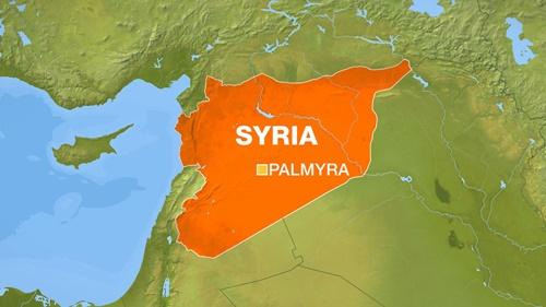Vị trí thành phố Palmyra, Syria. Đồ họa: Al Jazeera.