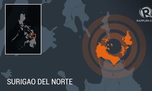 Động đất ở Surigao, Philippines. Đồ họa: Rappler