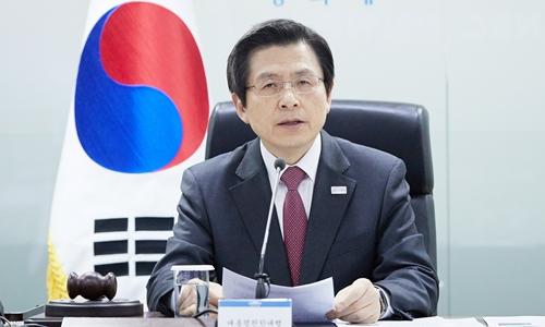 Thủ tướng kiêm quyền Tổng thống Hàn Quốc Hwang Kyo-ahn. Ảnh: Reuters.