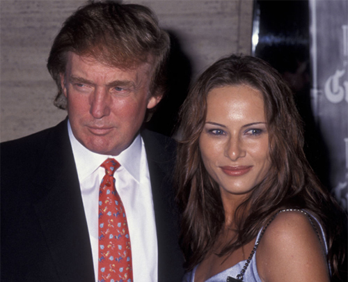 Donald Trump and Melania Trump attend the premiere of Celebrity on September 25, 1998 at Avery Fisher Hall at Lincoln Center in New York City.(Photo by Ron Galella/WireImage)